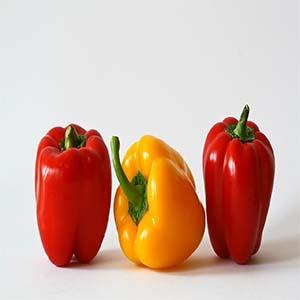 Pimientos verduras de temporada en otoño