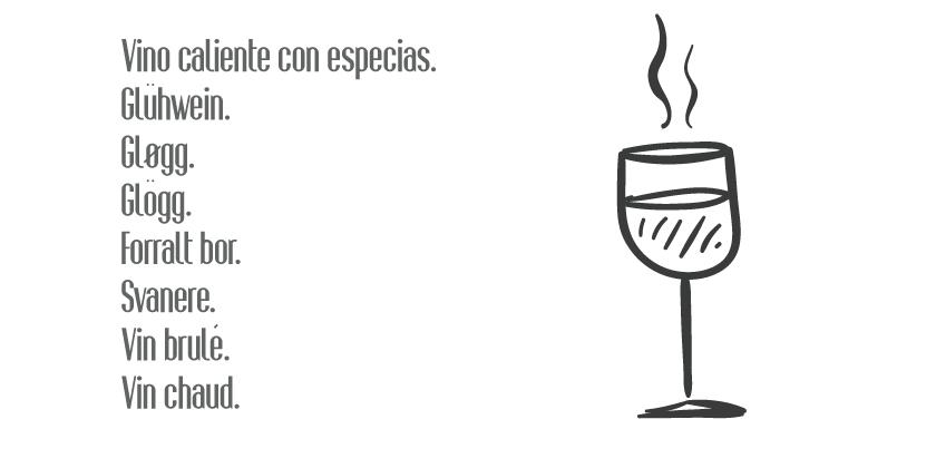 Bebidas invernales con vino.