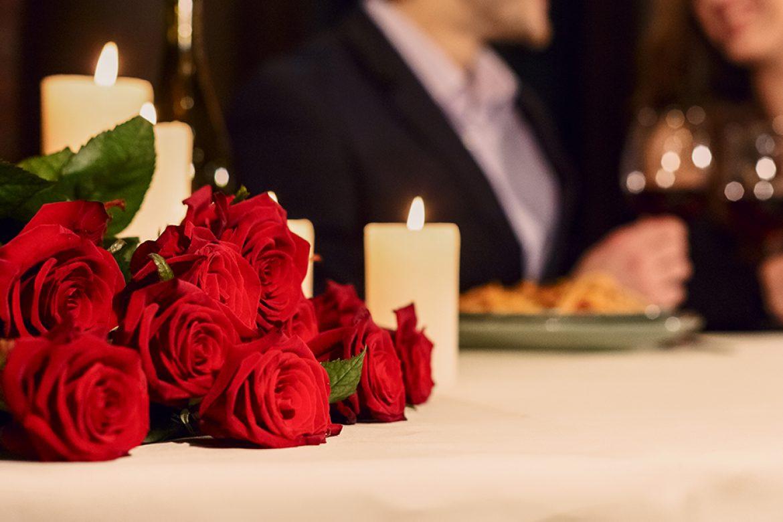 Cena romántica, menú especial de San Valentín
